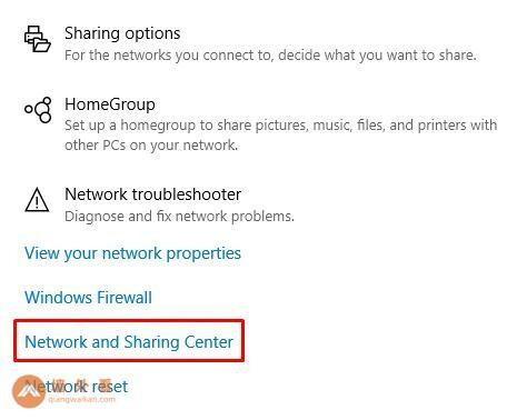 网络和共享中心