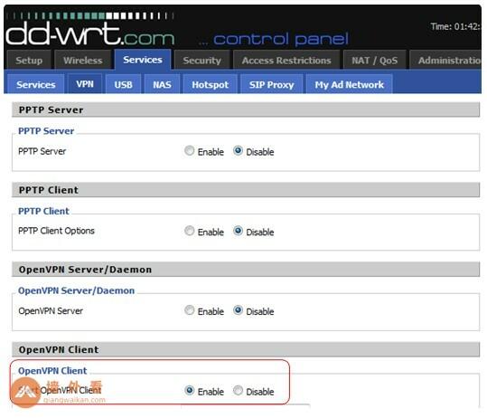 在DD-WRT上设置OpenVPN
