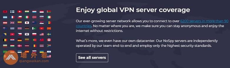 CyberGhost的服务器网络