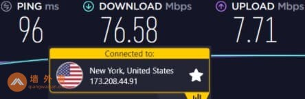 CyberGhost纽约服务器速度