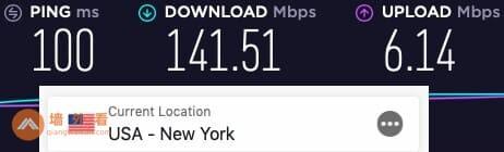 ExpressVPN纽约服务器速度