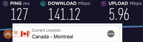 ExpressVPN加拿大服务器速度