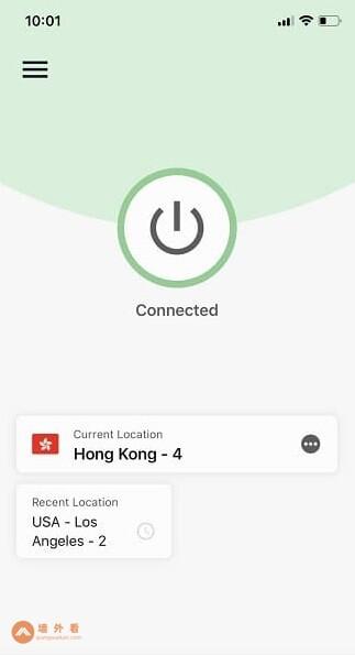 ExpressVPN iOS APP软件连接到香港