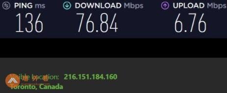 IPVanish加拿大服务器速度