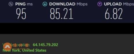 IPVanish纽约服务器速度