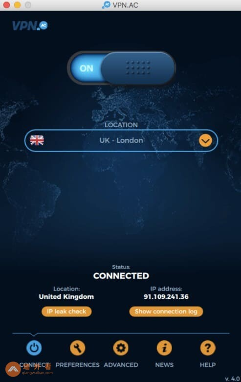 VPN.ac Mac OS客户端