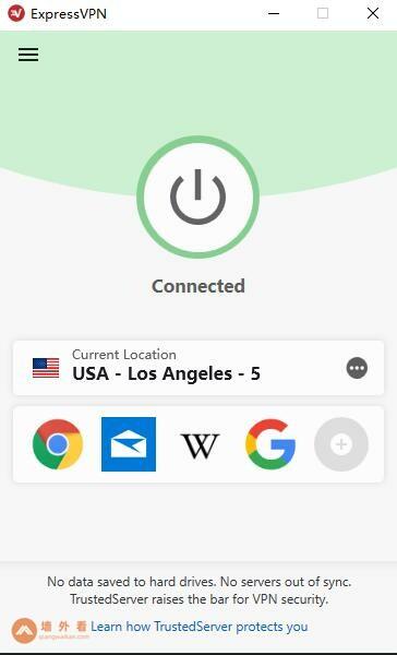 expressvpn电脑端连接到美国服务器