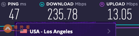 ExpressVPN洛杉矶服务器测速