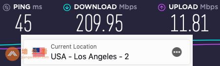 VyprVPN洛杉矶服务器测速